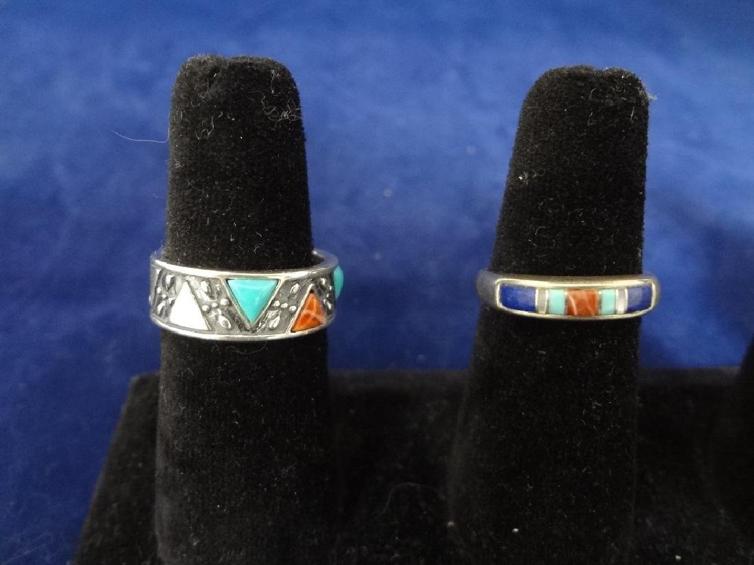 (5) Carolyn Pollack Sterling Silver Turquoise Rings - 2