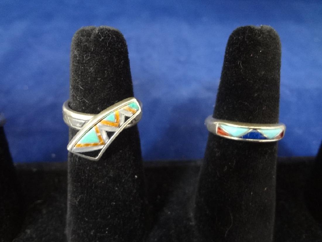 (5) Carolyn Pollack Sterling Silver Turquoise Rings - 3