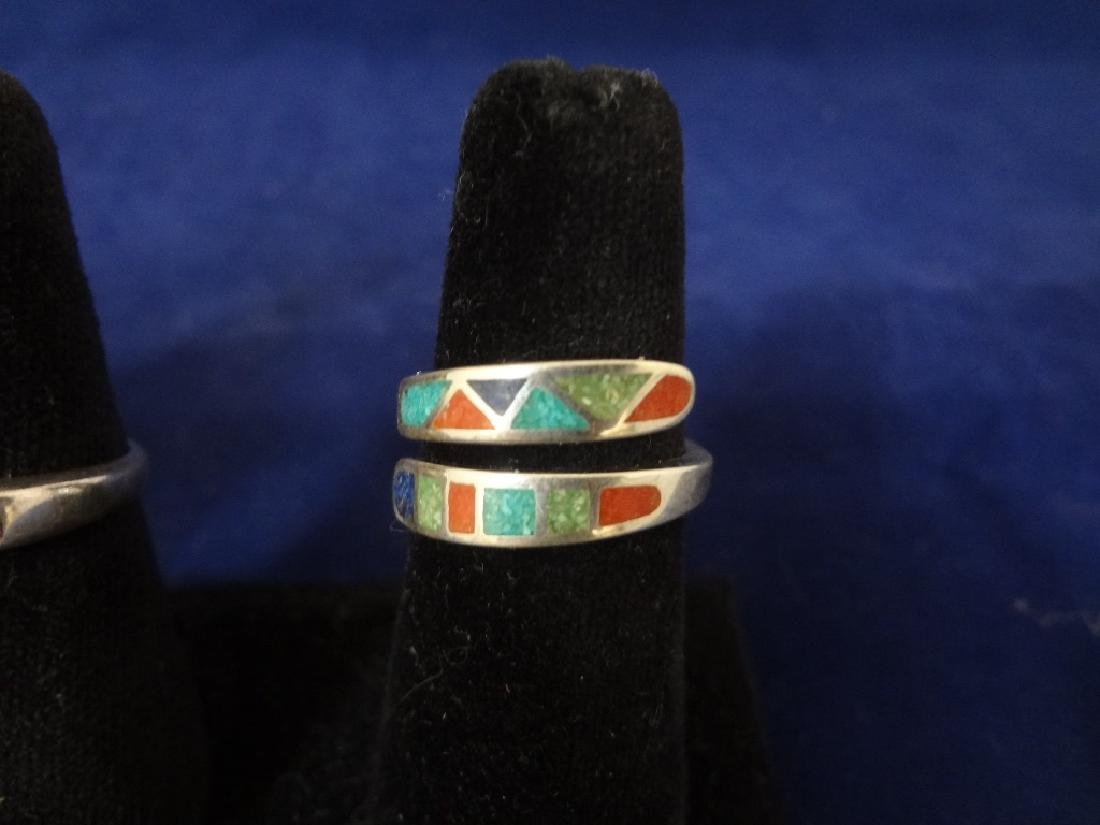 (5) Carolyn Pollack Sterling Silver Turquoise Rings - 4