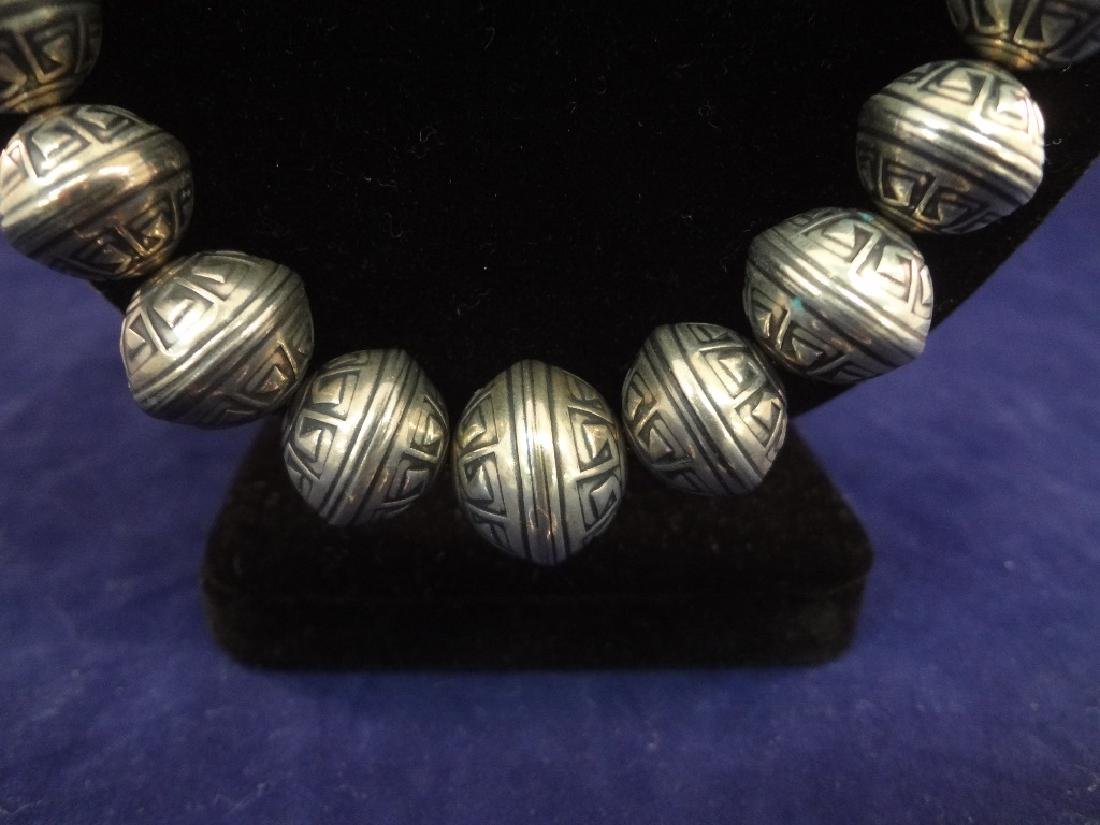 Carolyn Pollack Sterling Silver Bench Bead Necklace and - 2