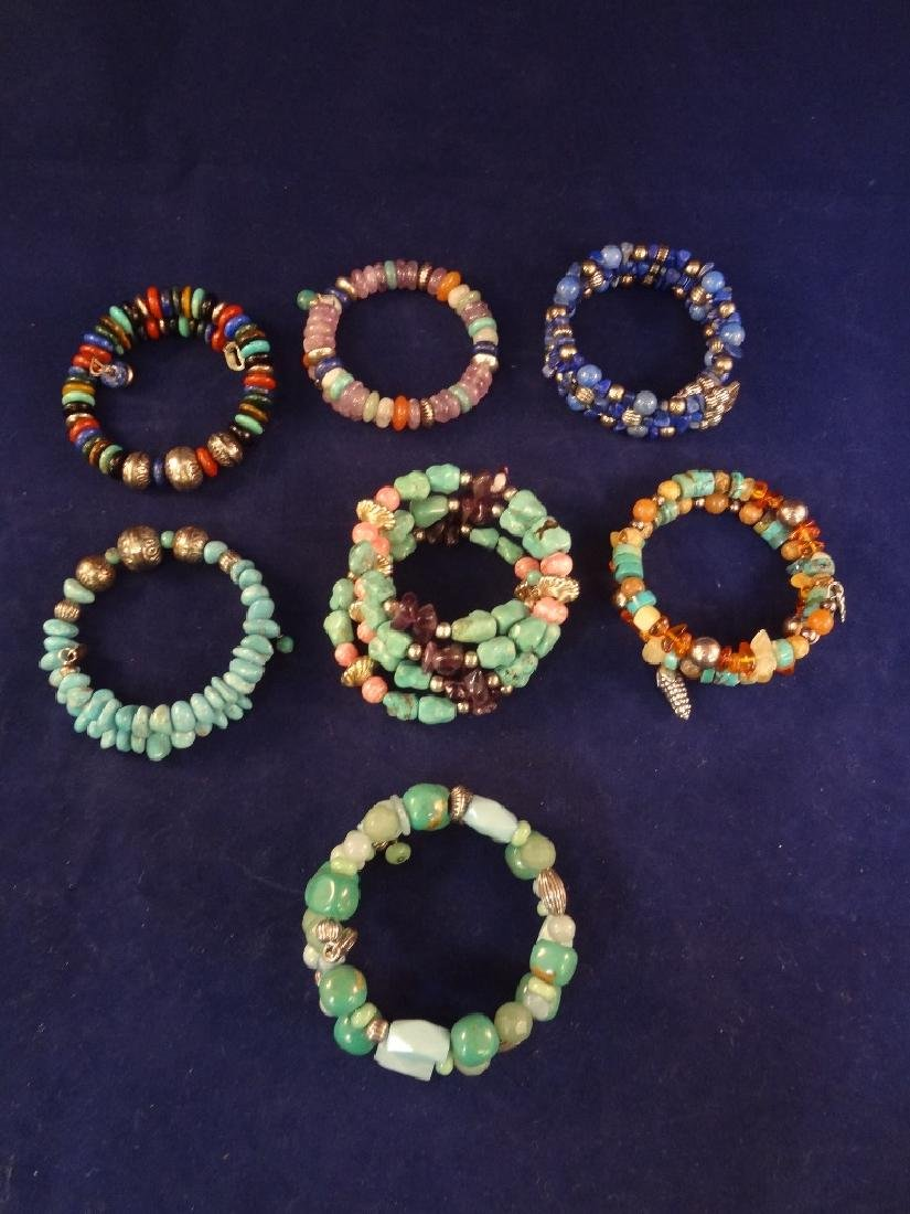 (7) Carolyn Pollack Stretch Sterling Silver and Colored
