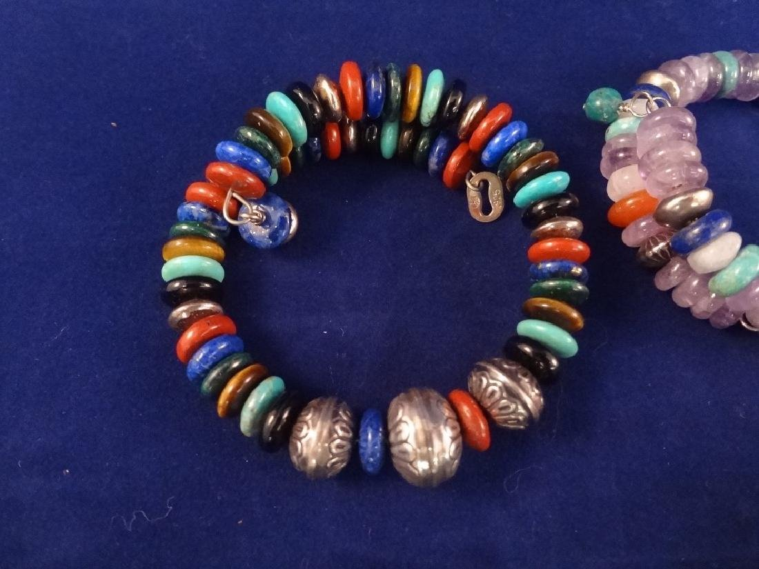 (7) Carolyn Pollack Stretch Sterling Silver and Colored - 4