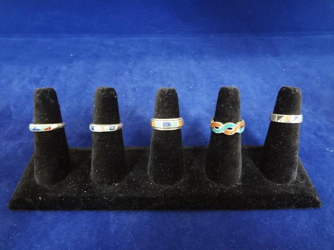 (5) Carolyn Pollack Sterling Silver and Turquoise Rings