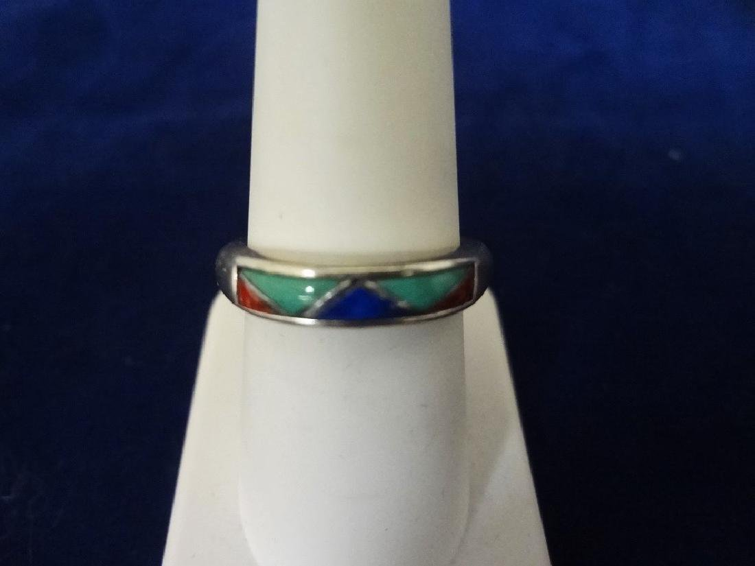 (5) Carolyn Pollack Sterling Silver and Turquoise Rings - 2