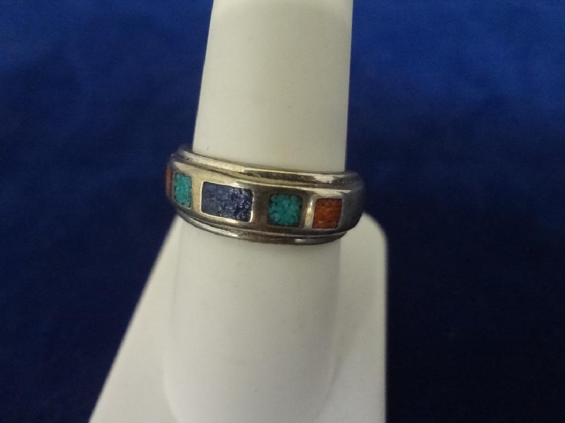 (5) Carolyn Pollack Sterling Silver and Turquoise Rings - 4