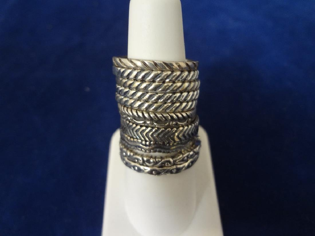 (10) Carolyn Pollack Stackable Sterling Silver Rings