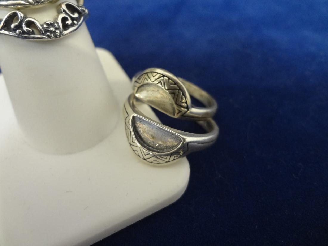 (9) Carolyn Pollack Sterling Silver Stackable Rings - 3