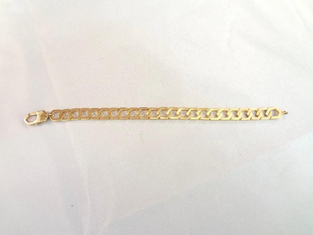 14k Yellow Gold Solid Bracelet Interlocking Links