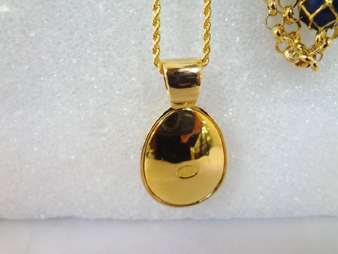 (2) Joan Rivers Faberge Egg Necklaces with Egg Pendants - 3