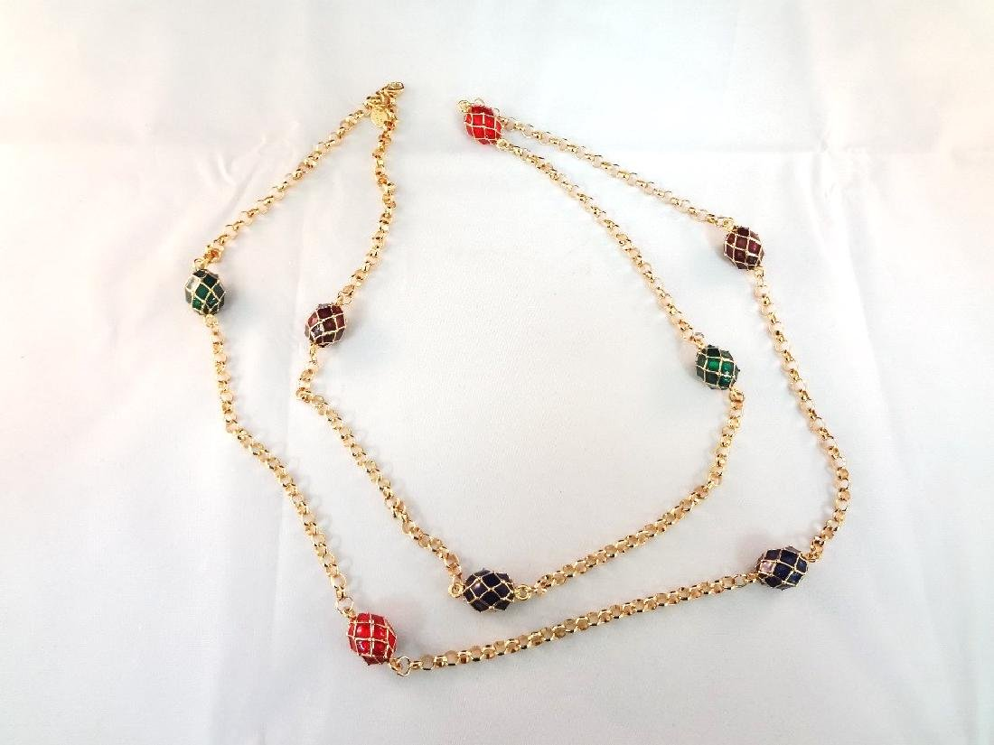 (2) Joan Rivers Faberge Egg Necklaces with Egg Pendants - 4