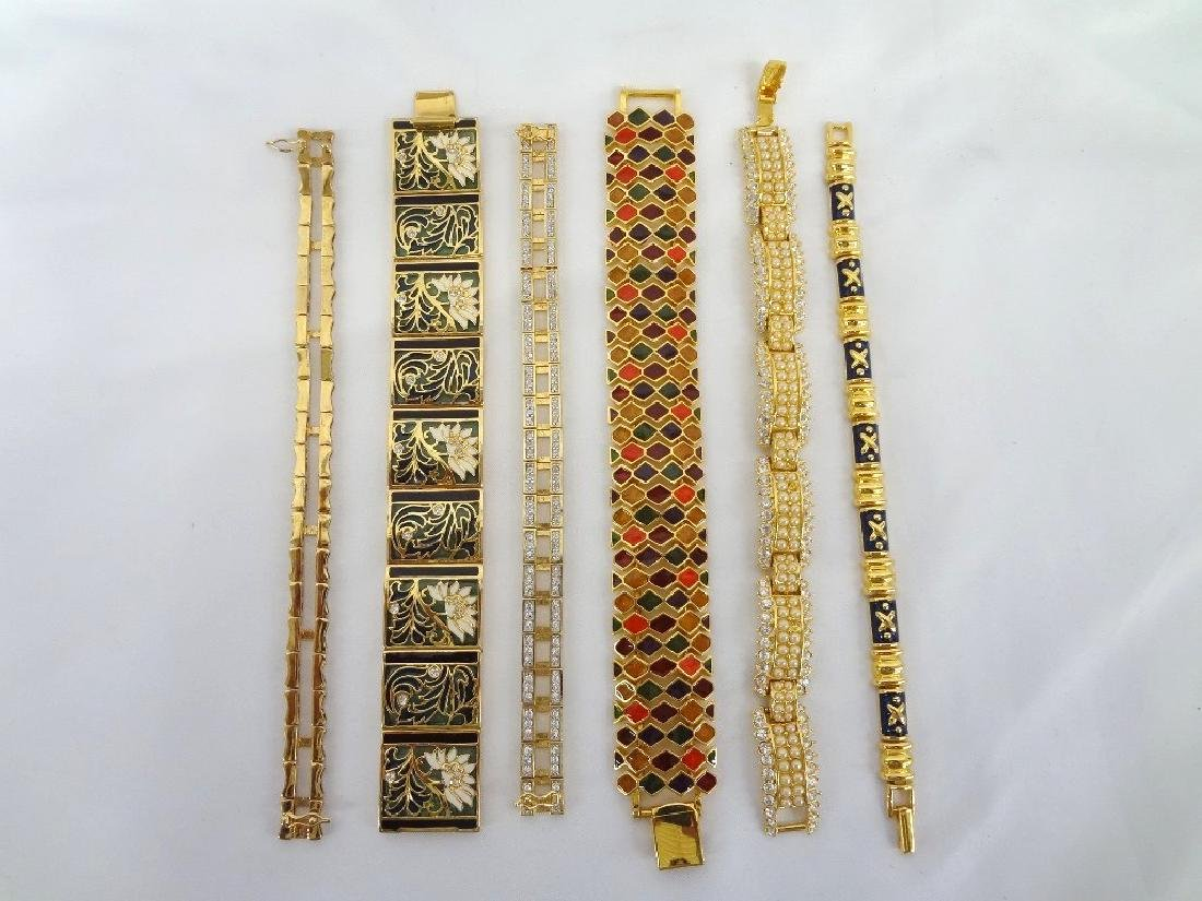 (6) Joan Rivers Gold Tone Costume Bracelets