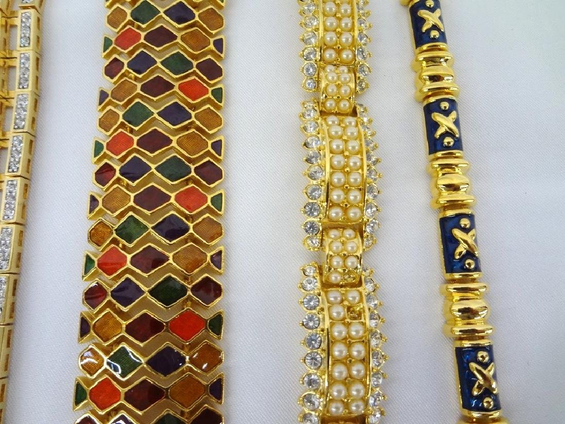 (6) Joan Rivers Gold Tone Costume Bracelets - 3
