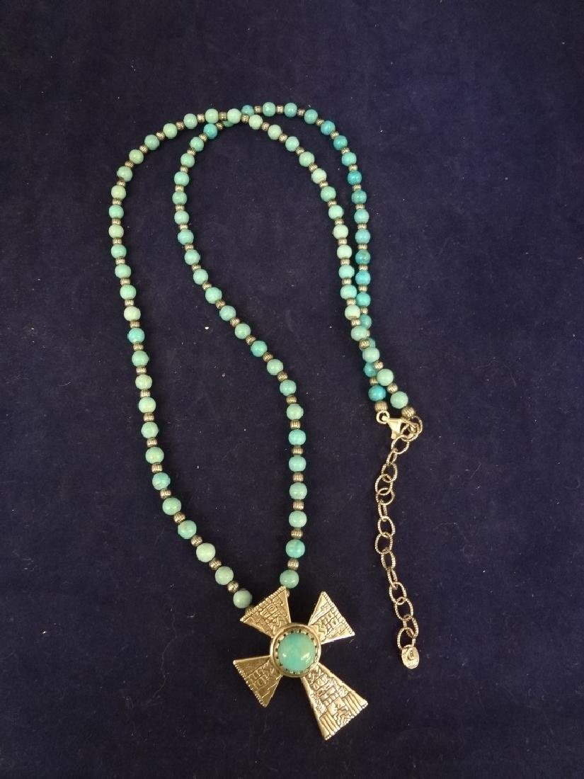 Carolyn Pollack Sterling Silver Turquoise Necklace with