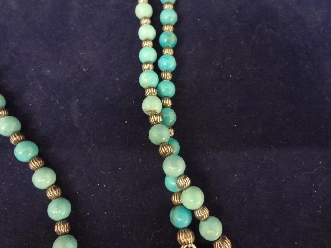 Carolyn Pollack Sterling Silver Turquoise Necklace with - 3