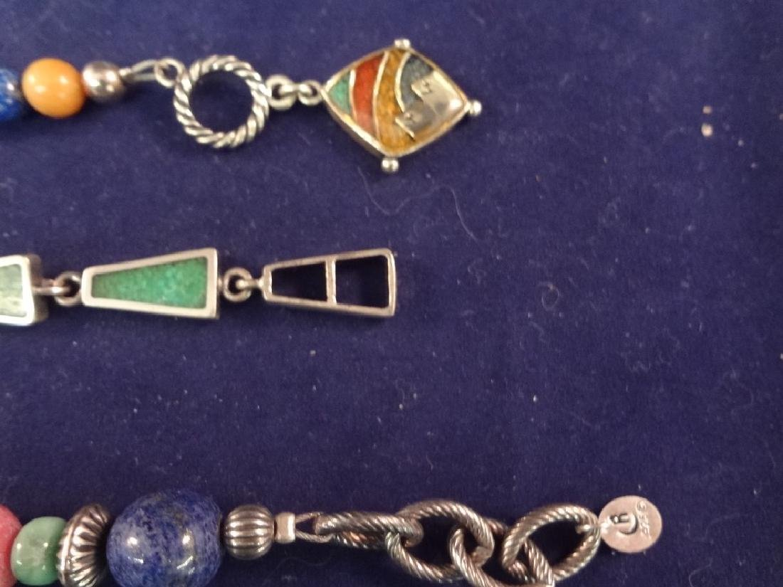 Carolyn Pollack Sterling Silver and Multi Color Stone - 4