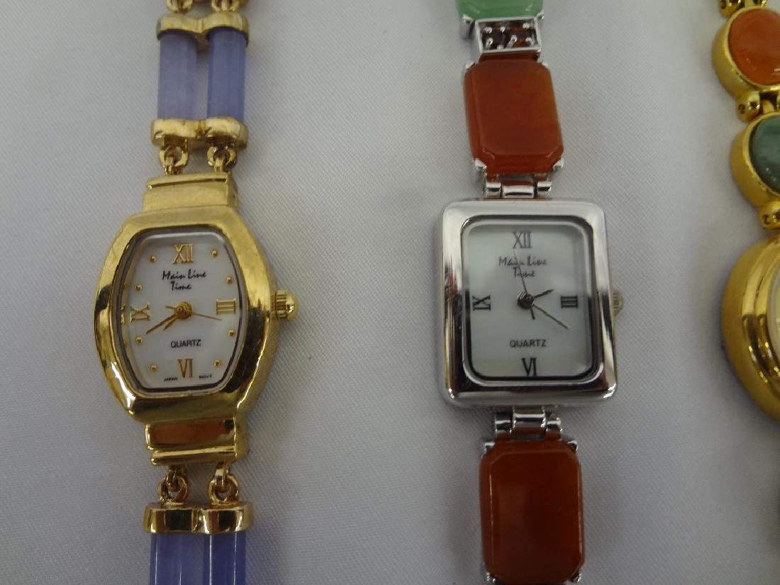 (4) Jade Watches: Gold and Silver Tone with Jade - 2