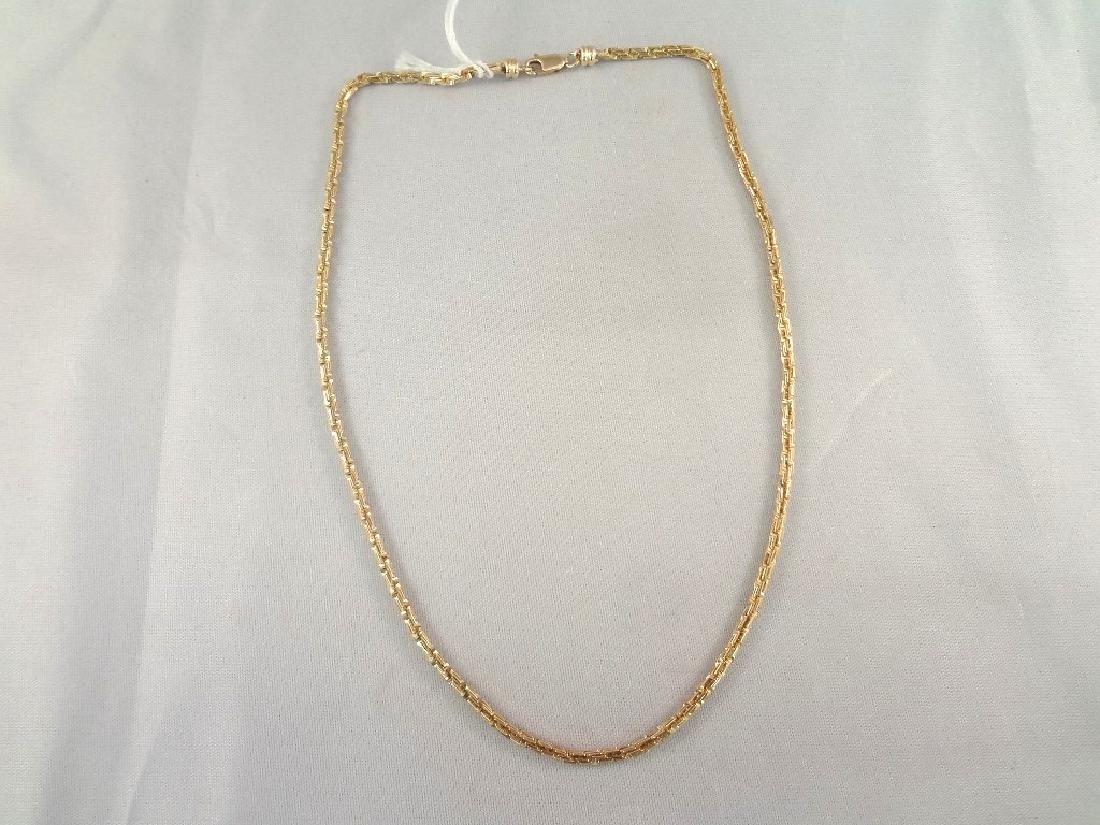 """14k Gold Fancy Link Chain 16"""" Long"""