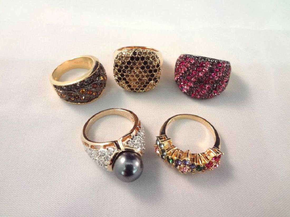 Joan Rivers (5) Cocktail Chunky Rings