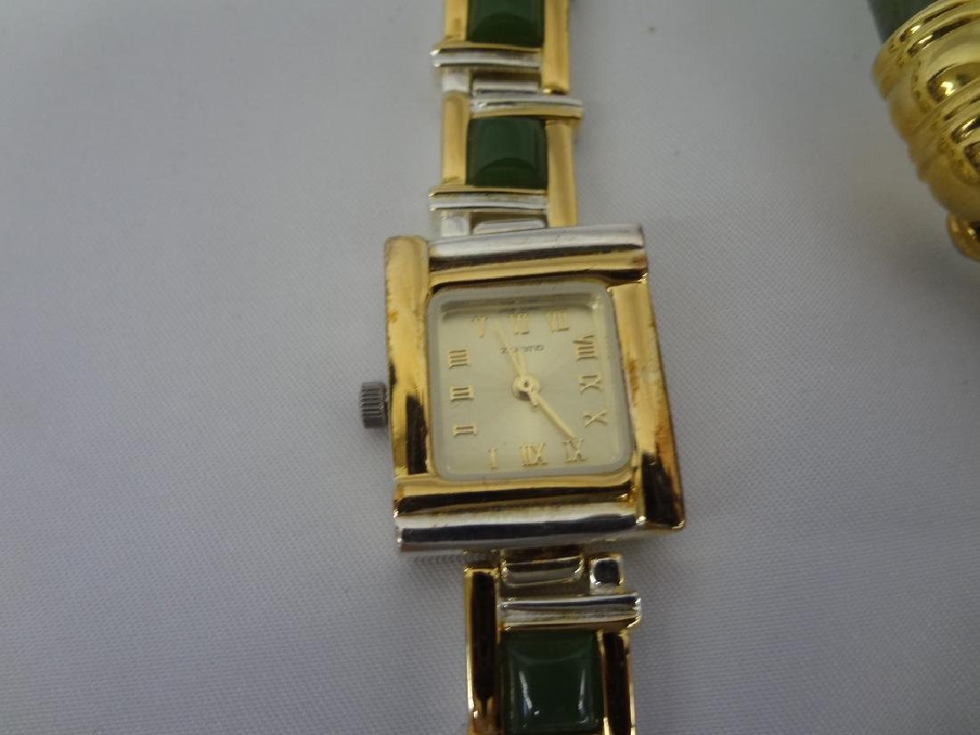 (4) Jade Watches Sterling, and Gold Tone - 3