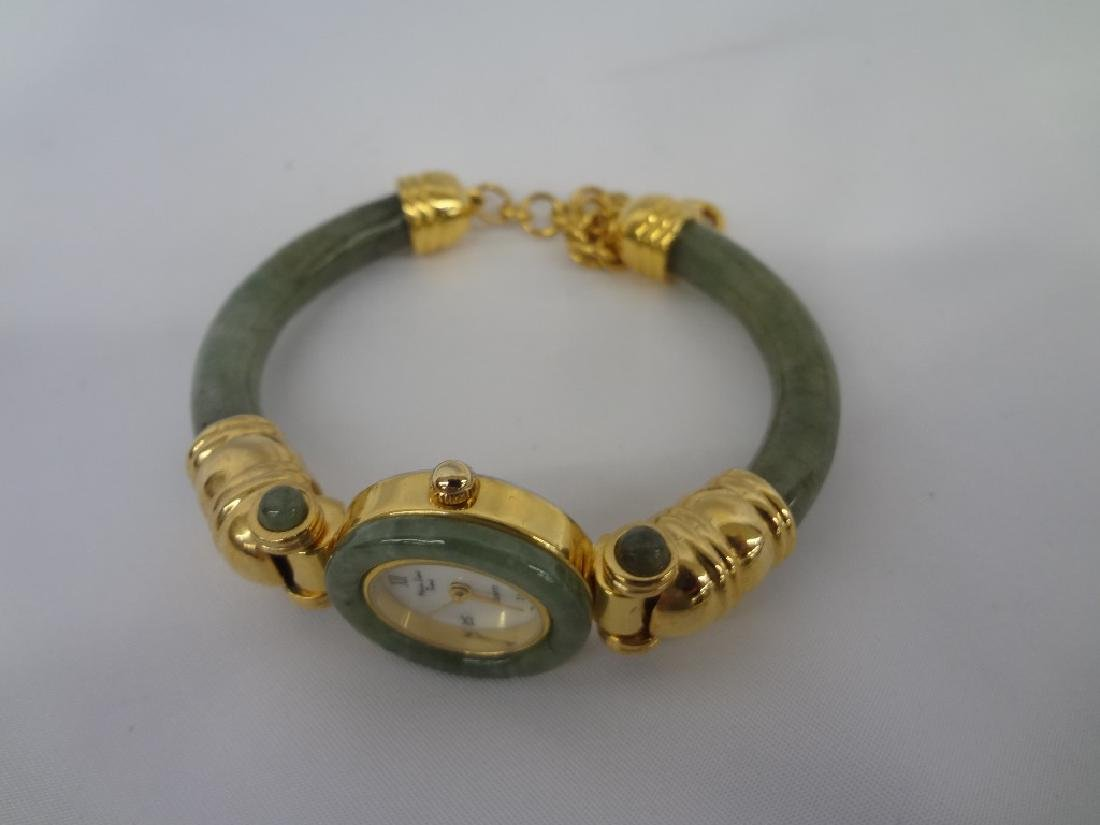 (4) Jade Watches Sterling, and Gold Tone - 4