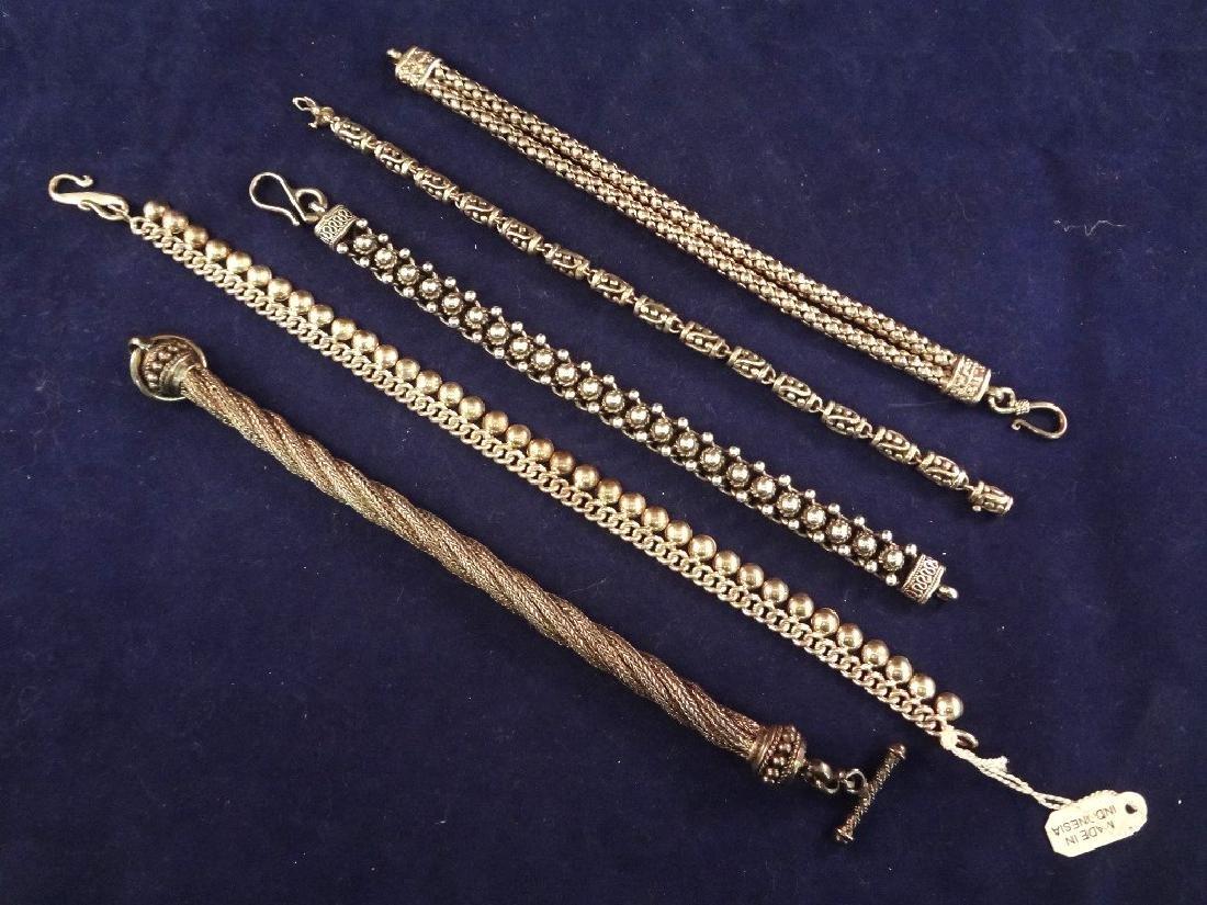 (5) Solid Sterling Silver Bracelets 174.2 Grams