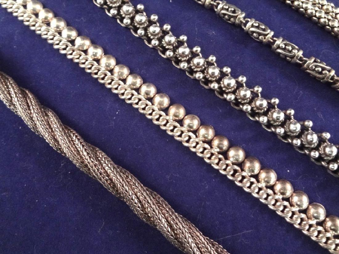 (5) Solid Sterling Silver Bracelets 174.2 Grams - 2