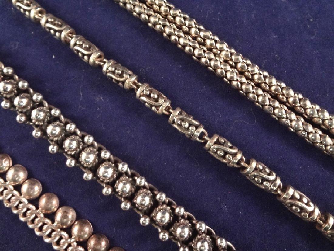 (5) Solid Sterling Silver Bracelets 174.2 Grams - 3