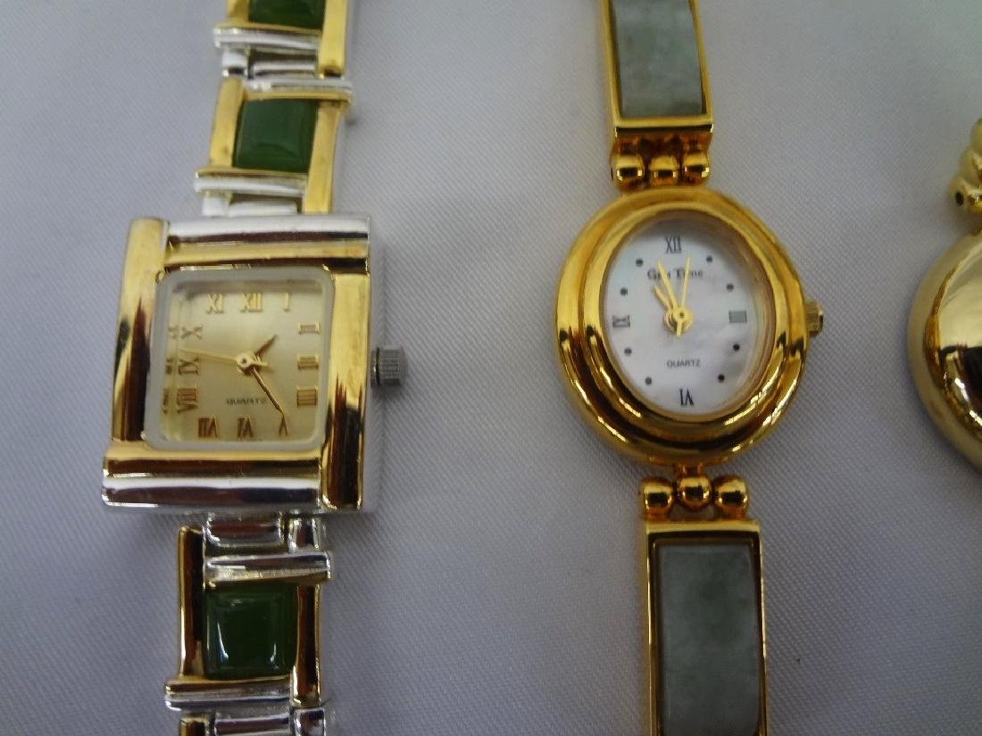 (4) Jade Watches: Sterling, Silver and Gold Tones - 2