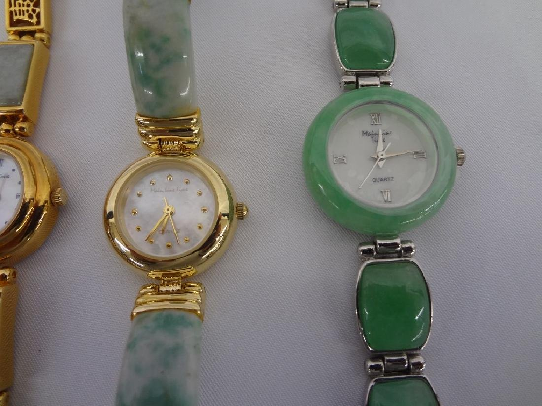 (4) Jade Watches: Sterling, Silver and Gold Tones - 3