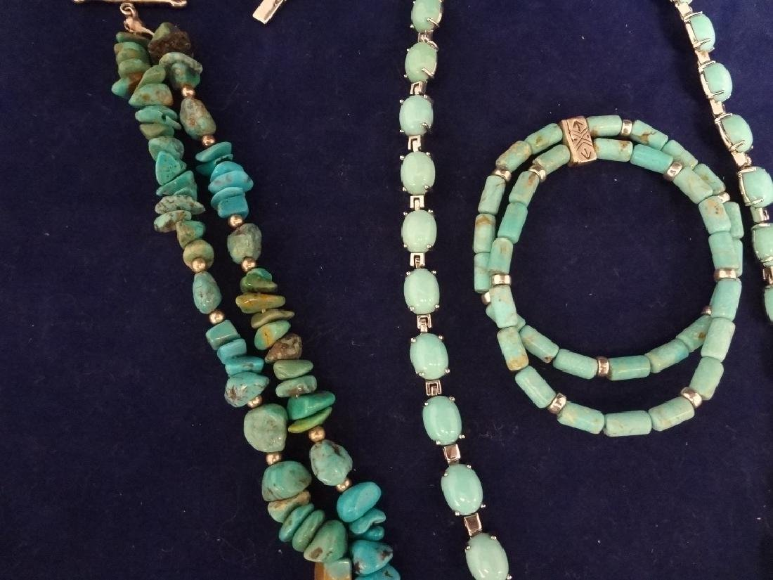 Southwest Sterling Silver and Turquoise Group: 2 - 2