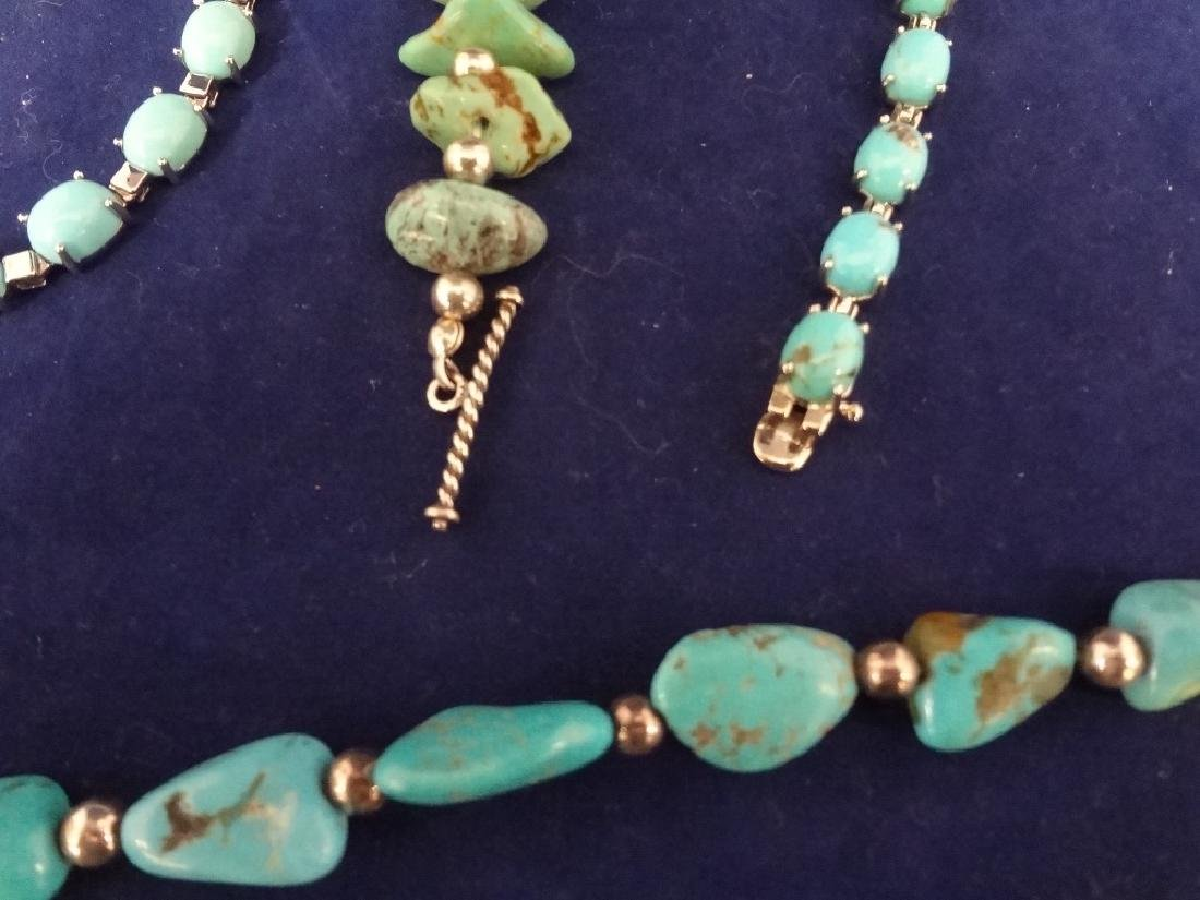 Southwest Sterling Silver and Turquoise Group: 2 - 3