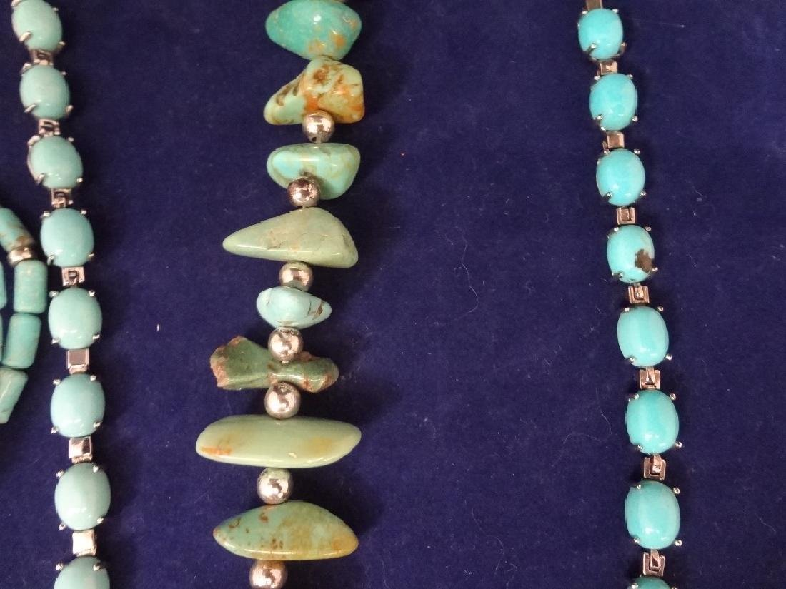 Southwest Sterling Silver and Turquoise Group: 2 - 4