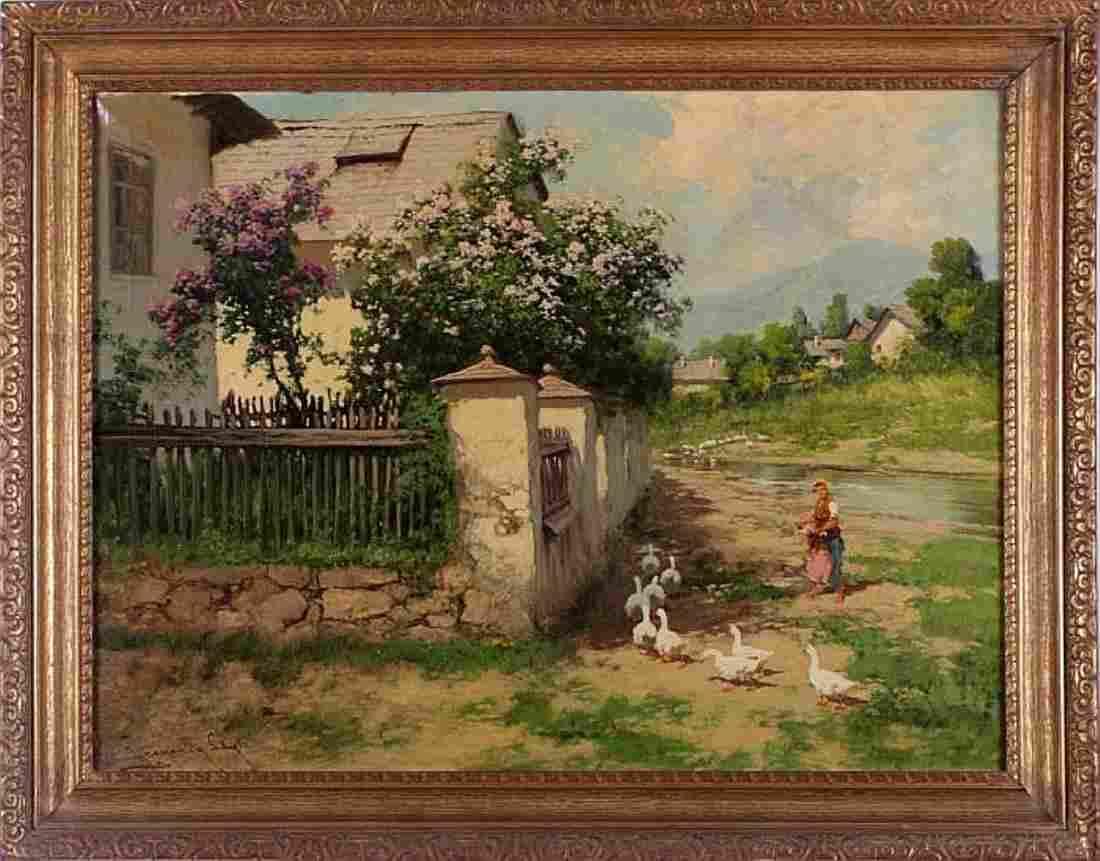 Laszlo Neogrady (Hungarian 1896-1962) Oil on Canvas
