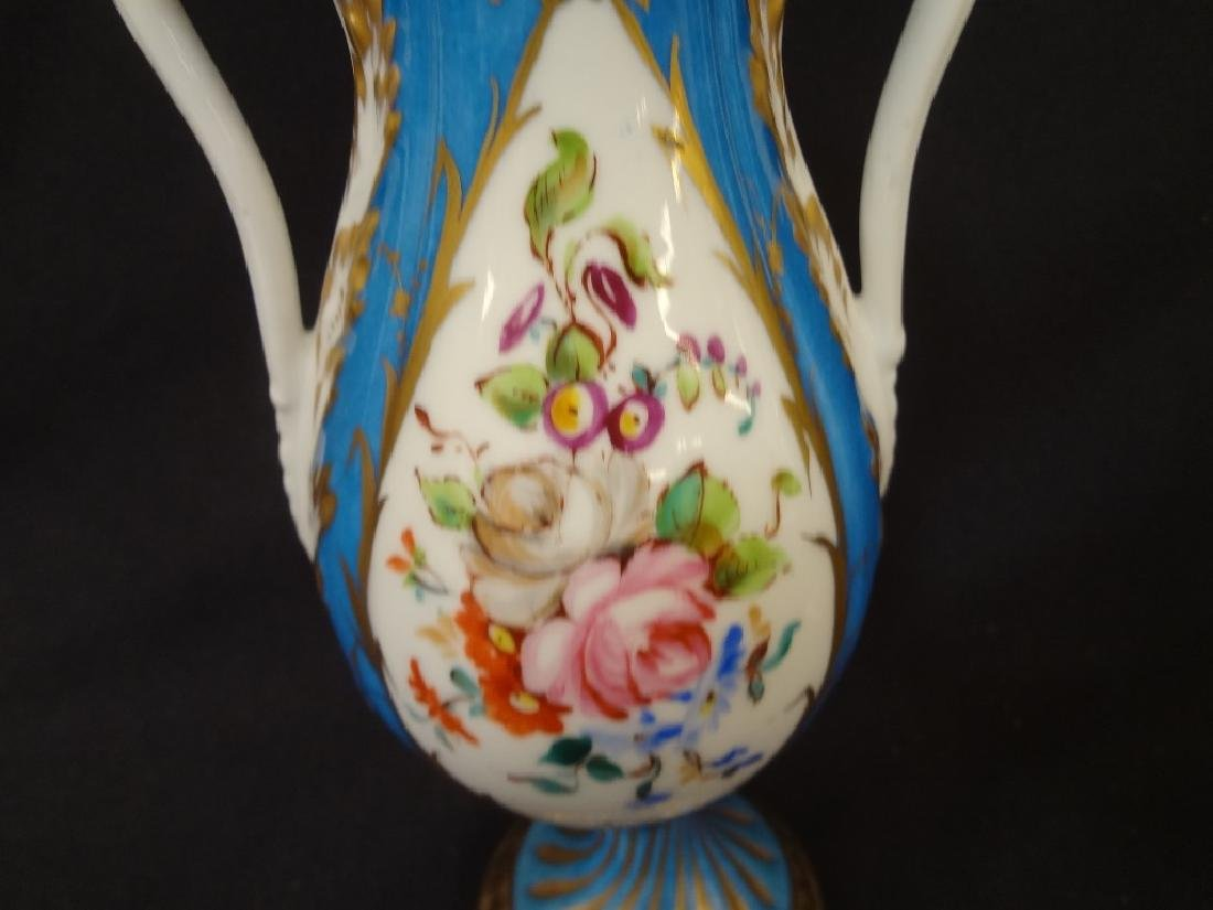 Sevres French Porcelain Pair of Covered Urns Acorn - 3