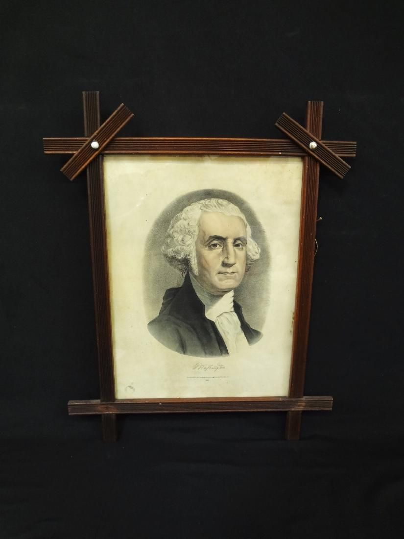 George Washington 1870's Currier and Ives Lithograph in