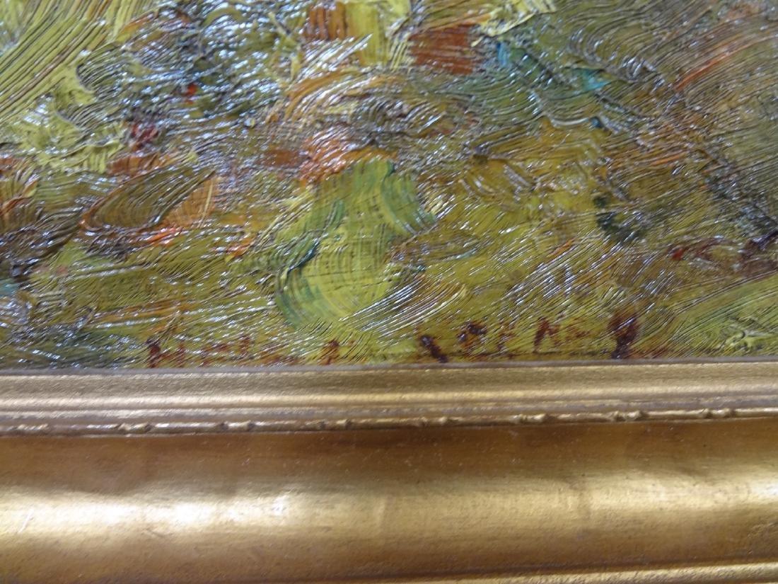 Original Oil Painting on Board Boat Water Landscape - 2