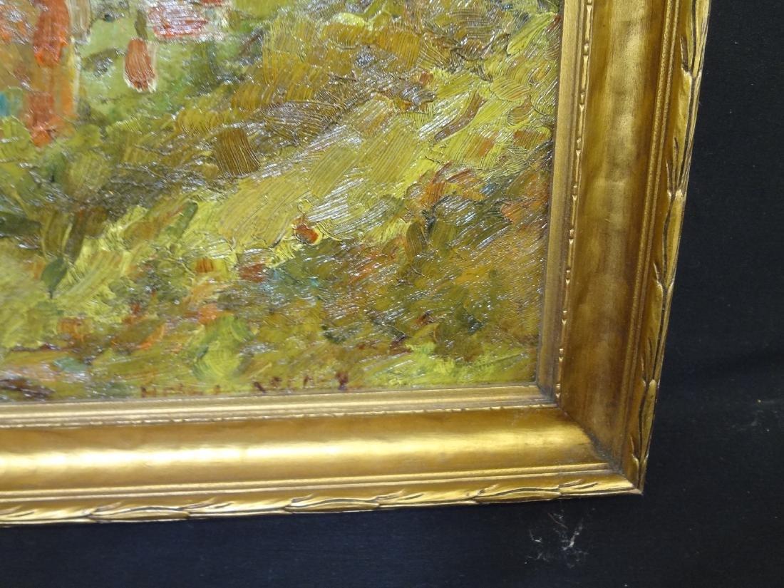 Original Oil Painting on Board Boat Water Landscape - 4