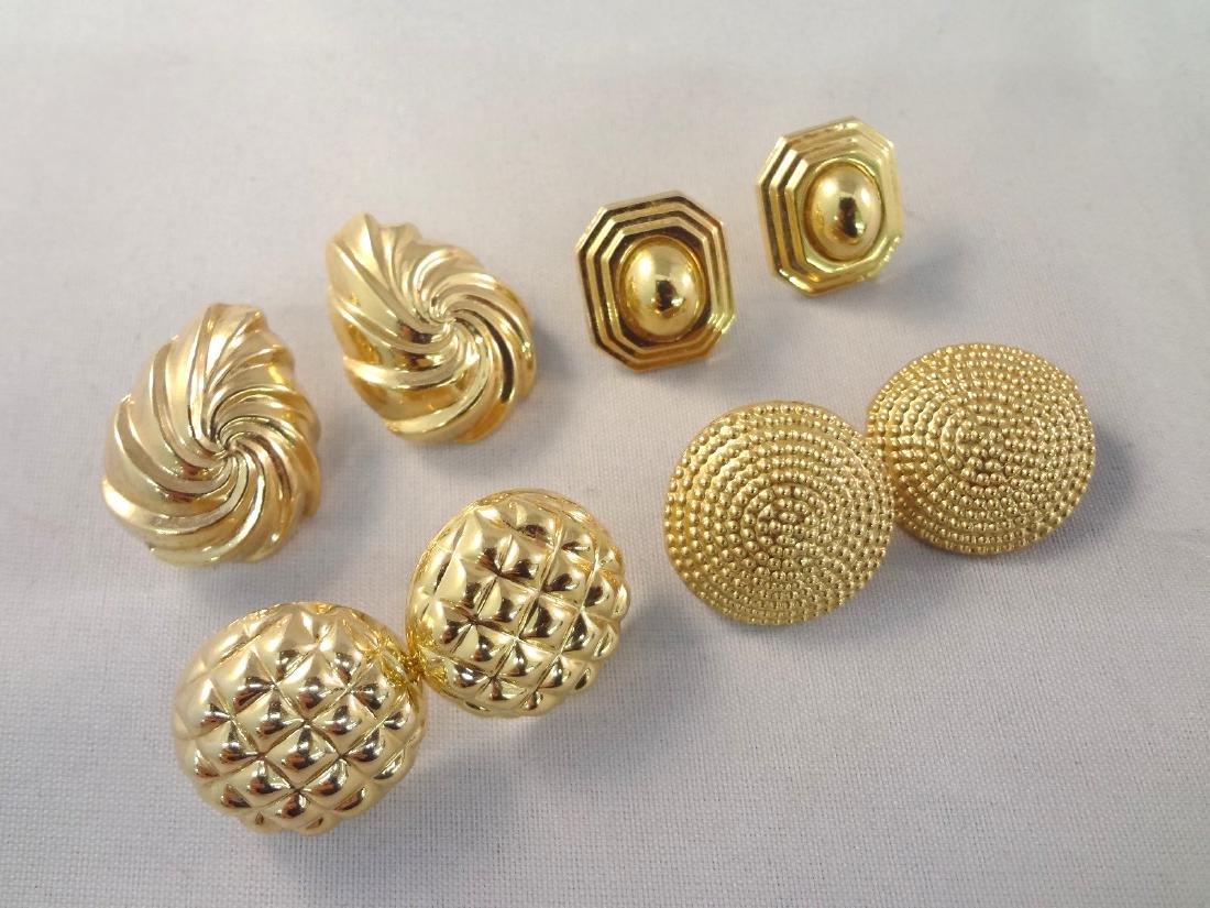 (4) Pairs 14k Gold Earrings