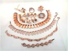 Renoir Copper Jewelry Group Necklaces Bracelet