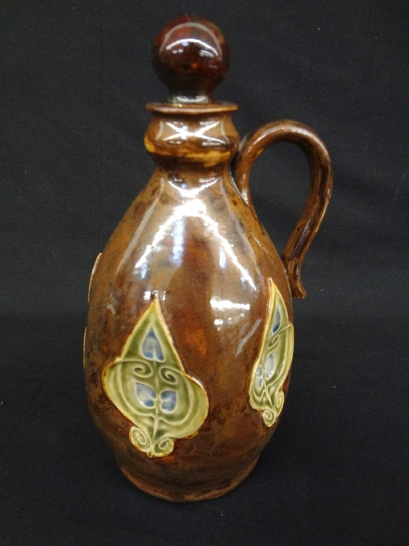 Royal Doulton Lambeth 1876 Stoneware Flask