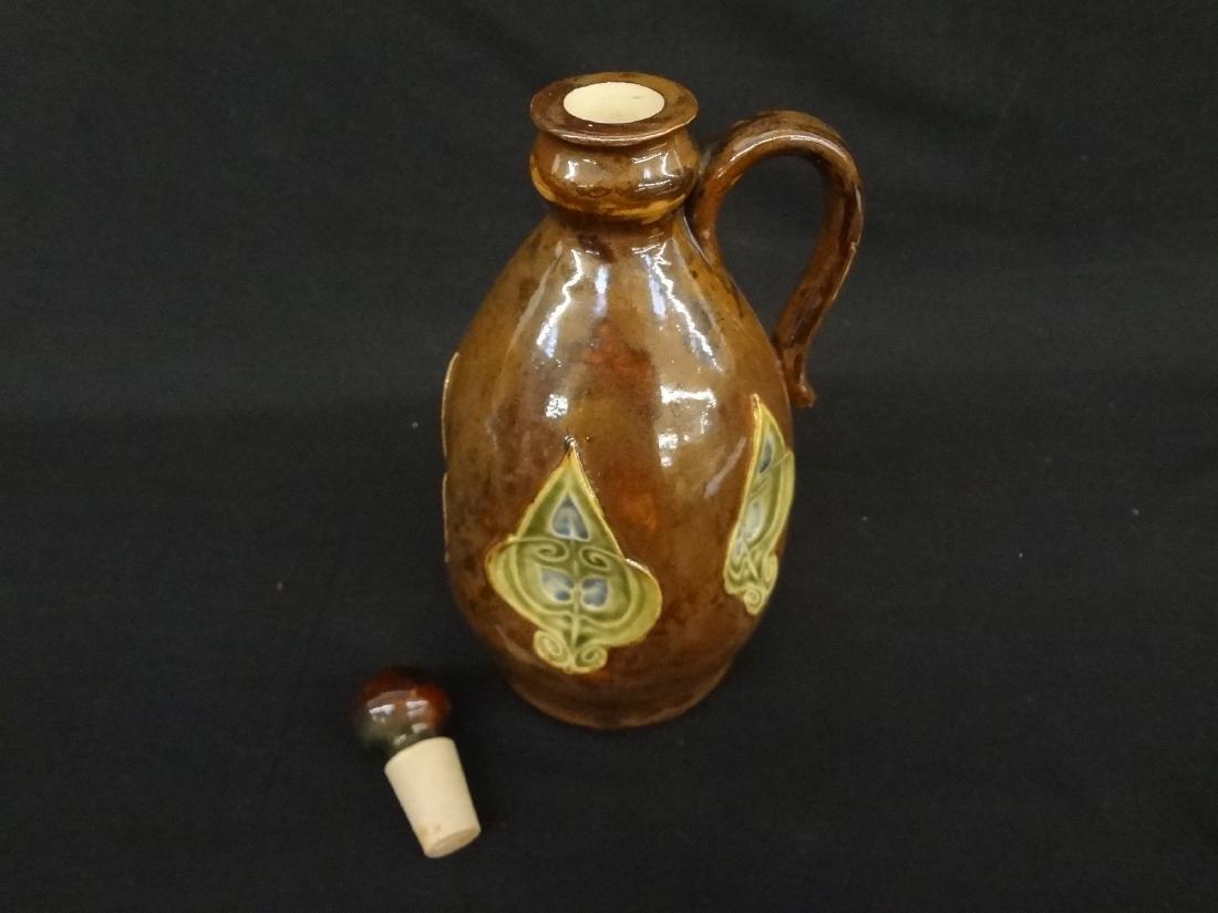 Royal Doulton Lambeth 1876 Stoneware Flask - 2