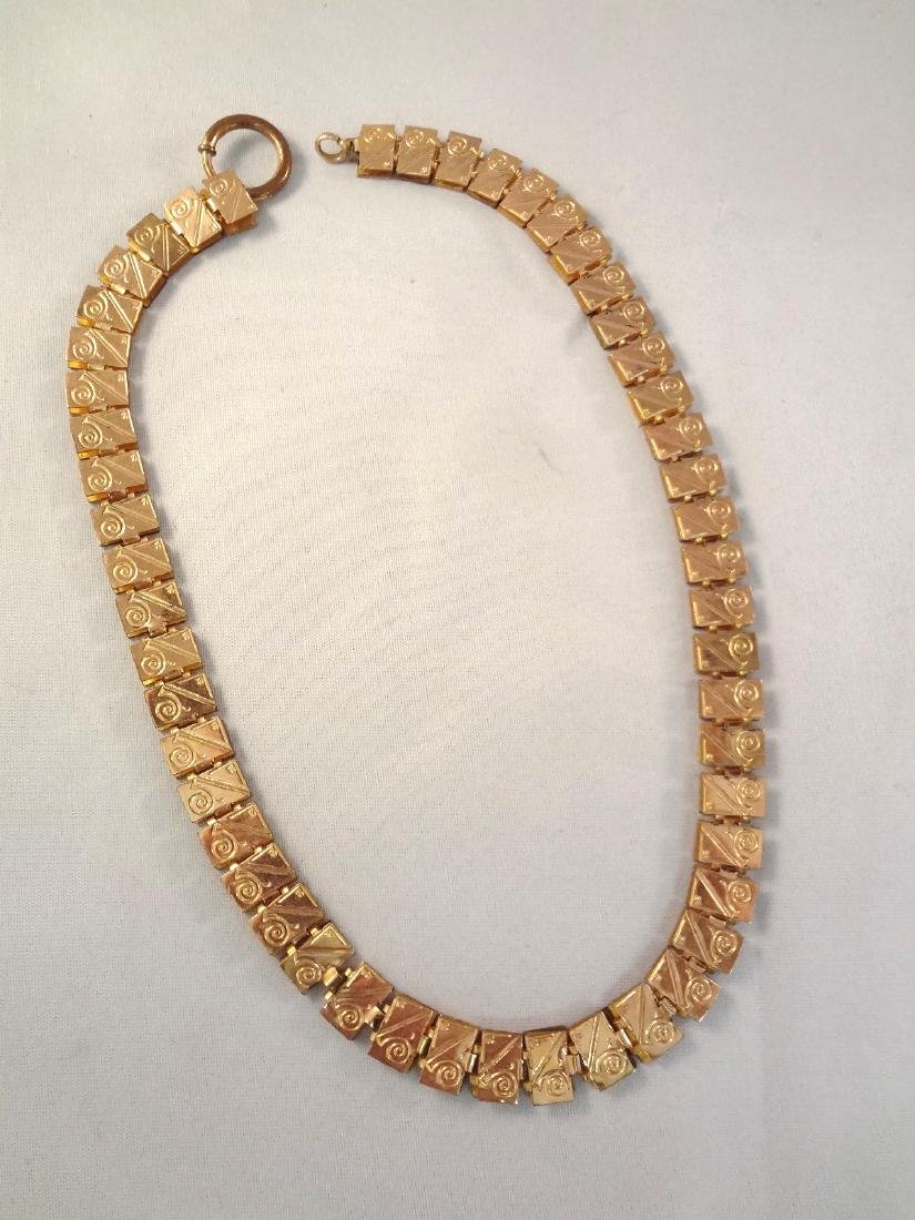 Victorian Fancy Gold Filled Mourning Necklace