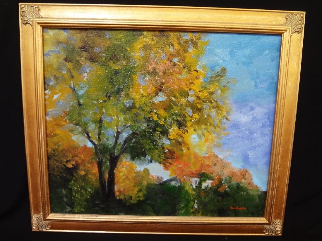 Original Oil Painting on Board Landscape Signed Bursham