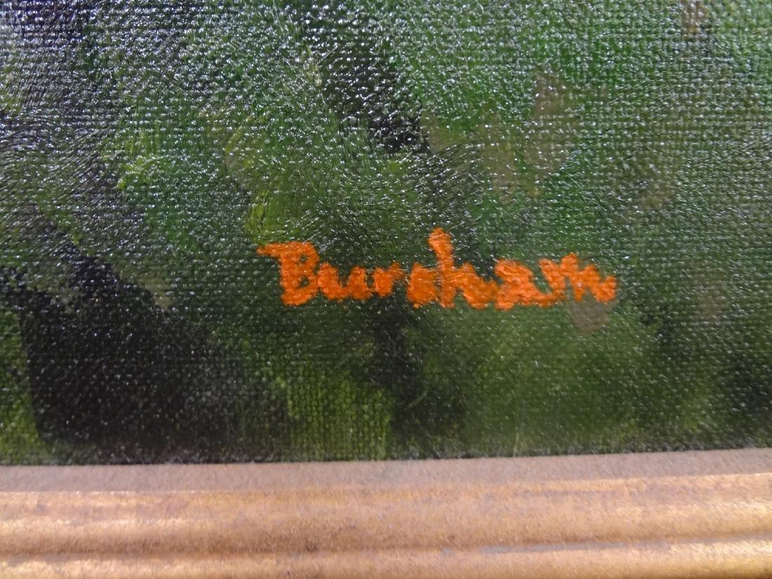 Original Oil Painting on Board Landscape Signed Bursham - 2