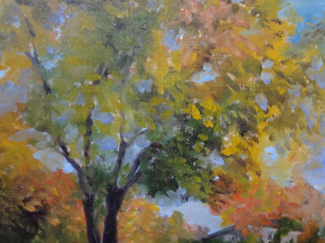 Original Oil Painting on Board Landscape Signed Bursham - 3
