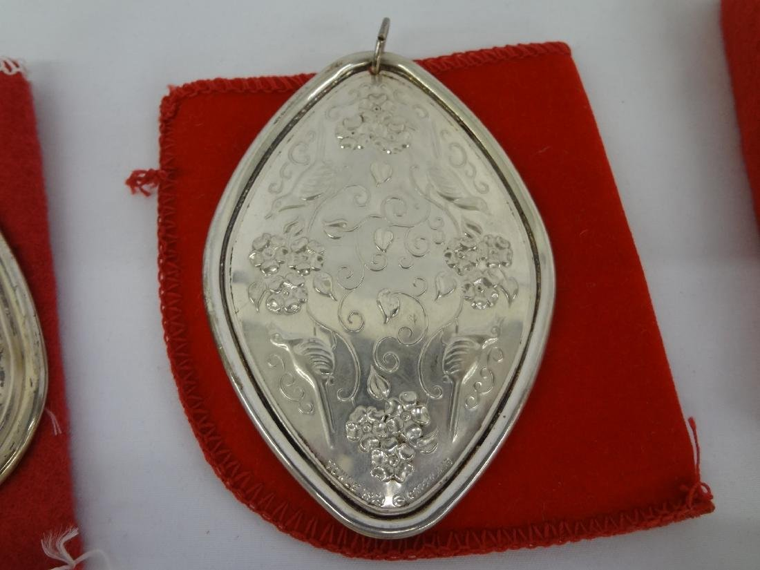 (3) Sterling Silver Christmas Ornaments: Towle and Reed - 3