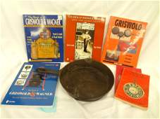 Wagner Cast Iron 8 Skillet and 6 Collector Books