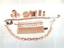 10 Renoir Copper Jewelry Group
