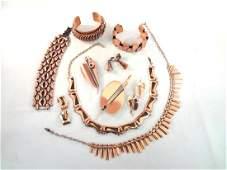 Renoir Copper Jewelry Group Necklaces bracelets