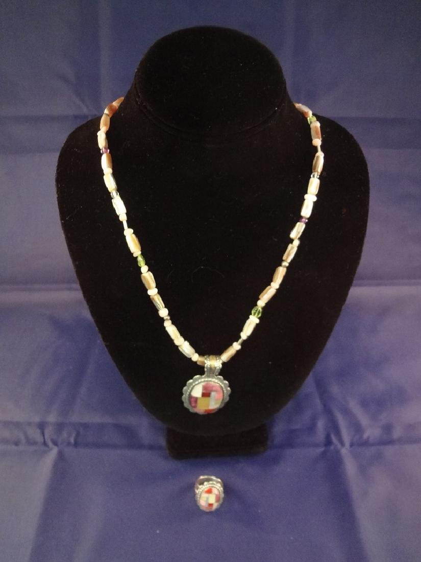 Carolyn Pollack Sterling Silver Necklace, Pendant and